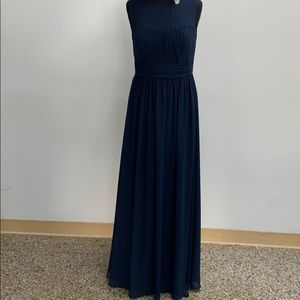 SAMPLE Bill Levkoff navy formal dress. Size 12.